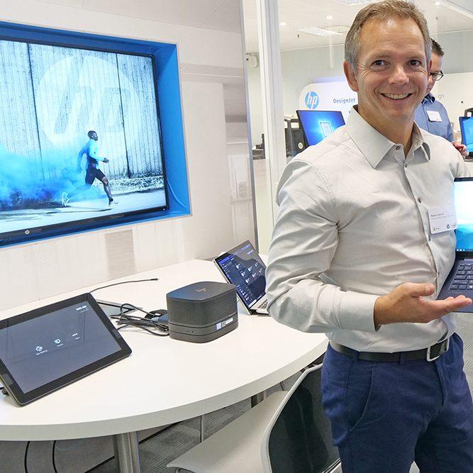 Markus Lackner im HP Experience Center