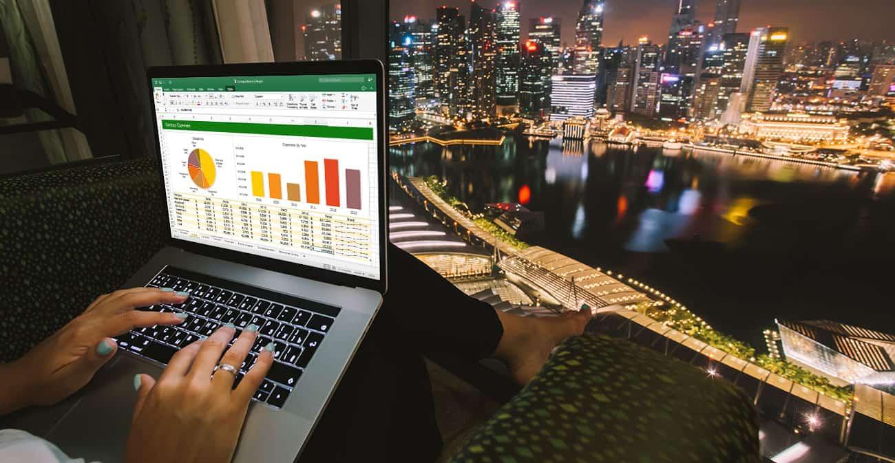 Office 365 für Mac - Excel auf MacBook Stadt