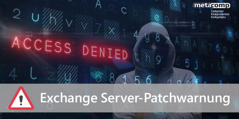 Exchange Server-Patchwarnung