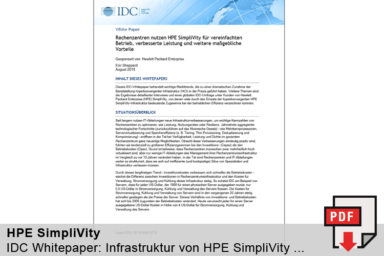 IDC-Report: SimpliVity im Rechenzentrum
