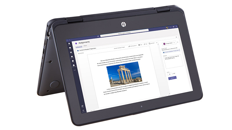 Microsoft Teams - Auf HP Convertible
