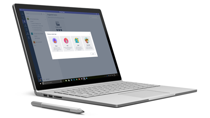 Microsoft Teams - Auf SurfaceBook