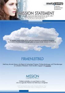Mission Statement der MetaComp GmbH