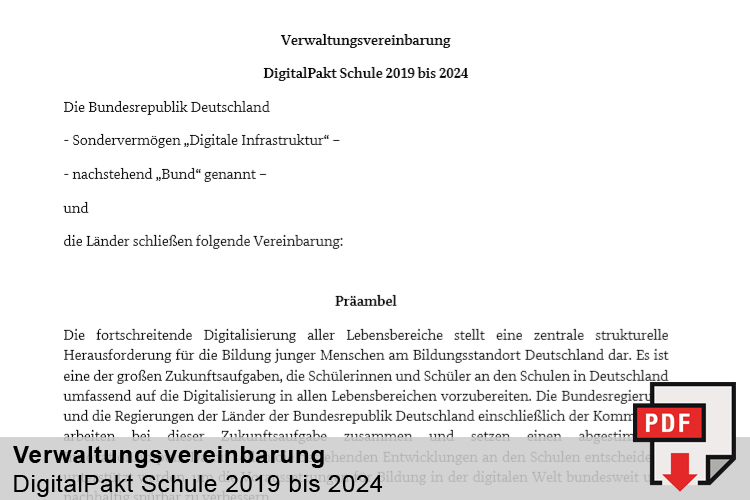 Verwaltungsvereinbarung DigitalPakt Schule 2019 bis 2024