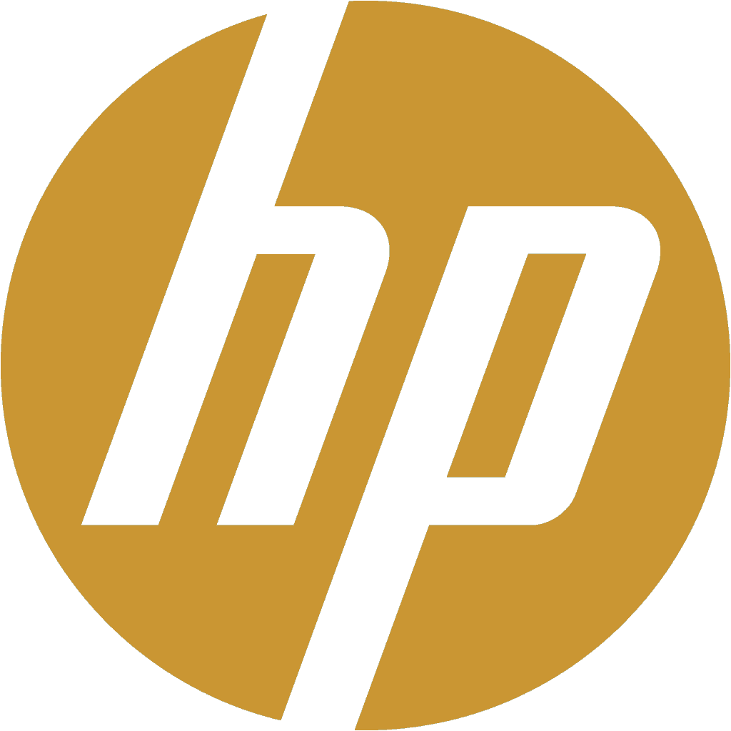 HP Logo gold